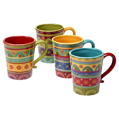 Certified International Tunisian Sunset 18oz Mugs - Set of 4