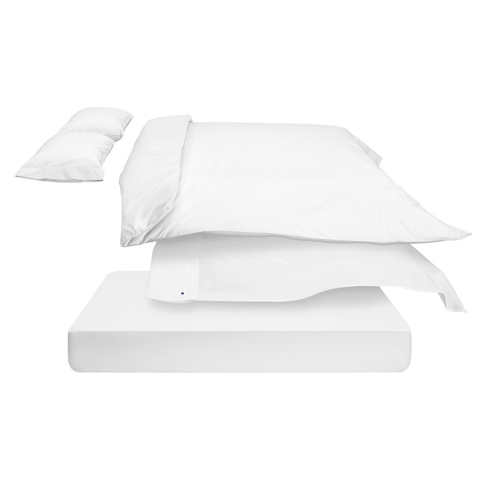 The Casper Duvet Cover - Twin/Twin Extra Long White