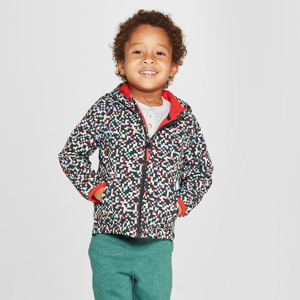Toddler Boys' Shapes Softshell Jacket - Cat & Jack Black 7