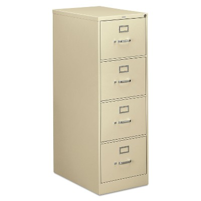 HON 310 Series Four-Drawer Full-Suspension File Legal 26-1/2d Putty 314CPL