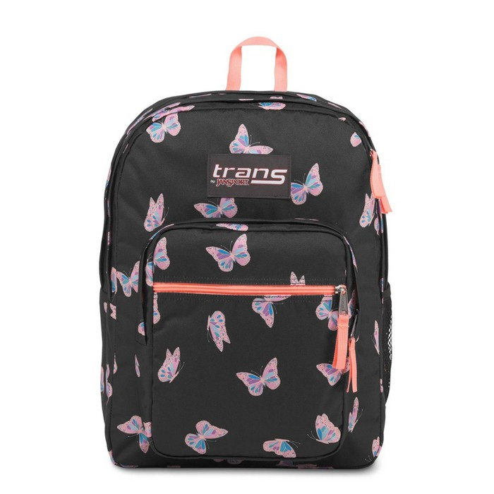 """Trans by JanSport 17"""" Supermax Backpack - Butterfly Ballet/Black - image 1 of 5"""