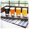 Cathy's Concepts® 4pc Monogram Bamboo & Slate Craft Beer Tasting Flight A-Z - image 4 of 4