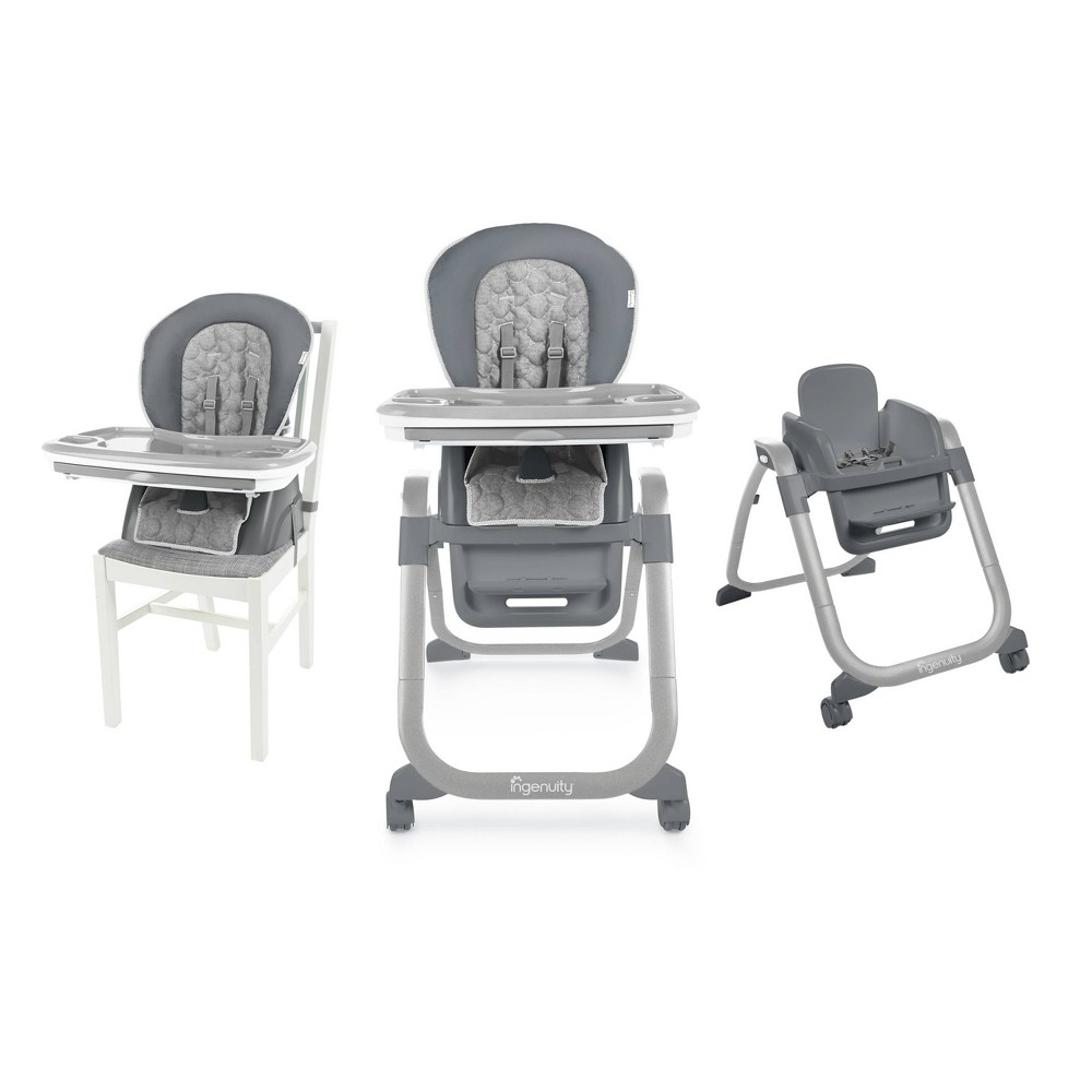 Image of Ingenuity SmartServe 4-in-1 High Chair - Connolly, Gray