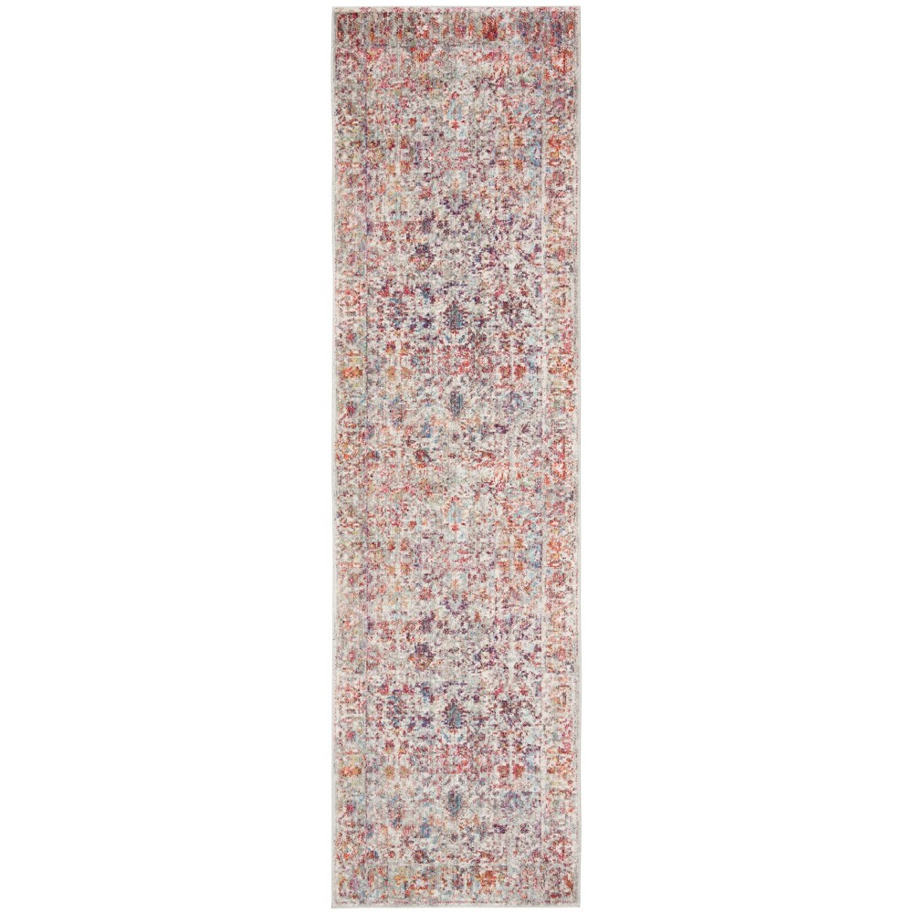 2 3 X4 Loomed Shapes Accent Rug Gray Red Safavieh