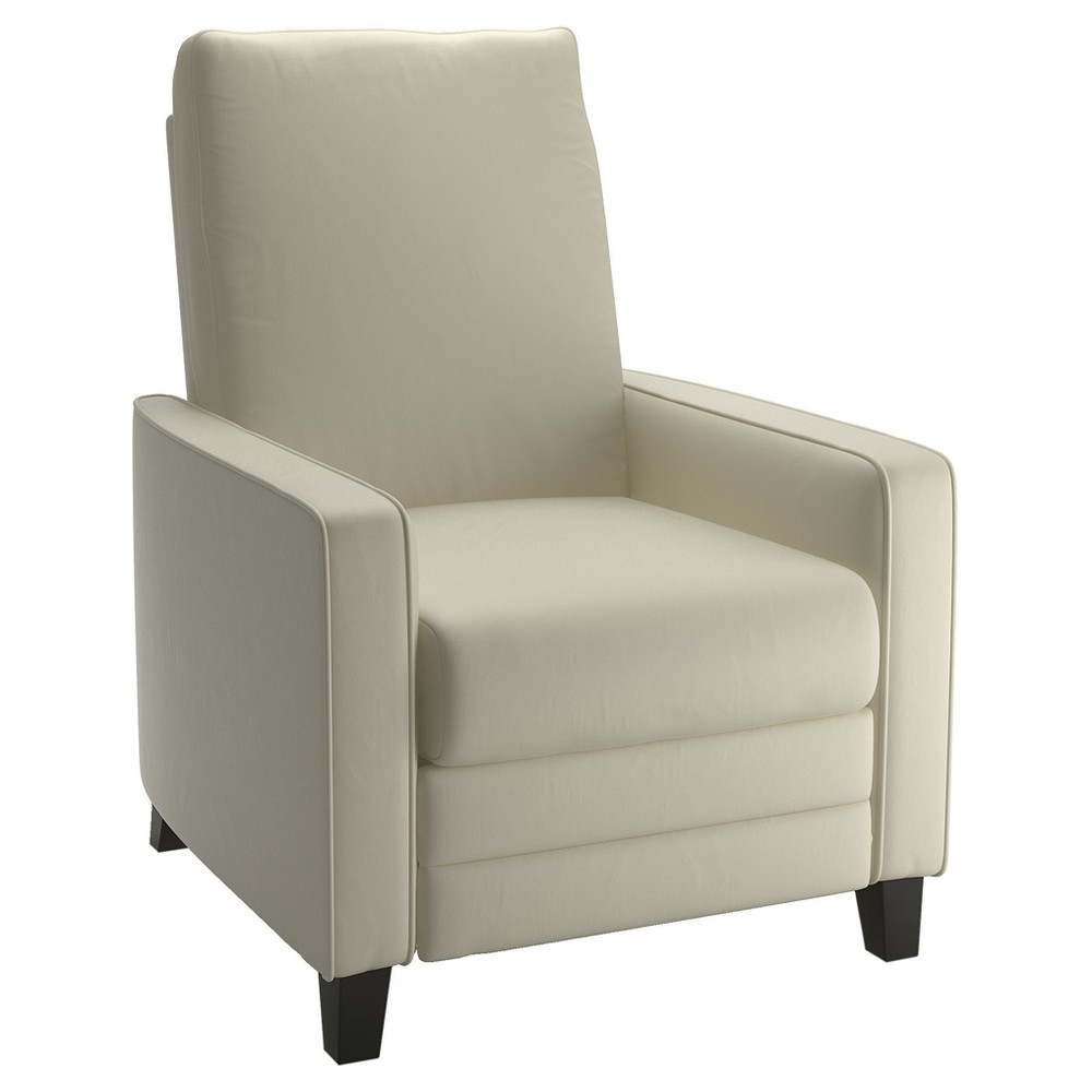 Kelsey Cream (Ivory) Bonded Leather Recliner - Corliving