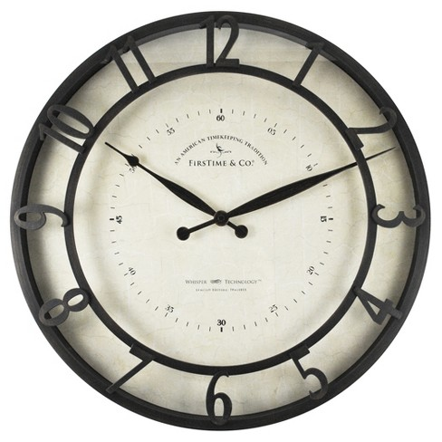 "Kensington 18"" Round Wall Clock Oil Rubbed Bronze - FirsTime® - image 1 of 3"
