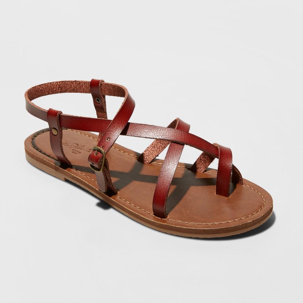 Women's Lavinia Toe Wrap Thong Sandal - Universal Thread Brown 10