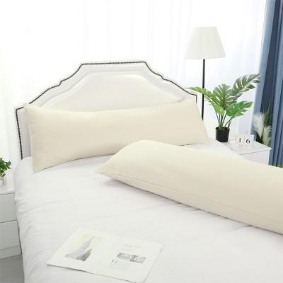 "2 Pcs 20""x72"" 1800 Series Soft Brushed Microfiber Pillow Cover Cream - PiccoCasa"