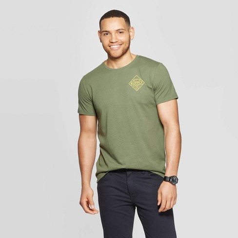 Men's Standard Fit Short Sleeve Graphic T-Shirt - Goodfellow & Co™ Orchid Leaf - image 1 of 3