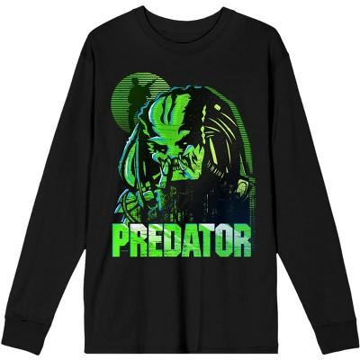 Predator Heroine and Logo Mens Black Long Sleeve Tee