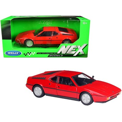 """BMW M1 Coupe Red """"NEX Models"""" 1/24 Diecast Model Car by Welly"""