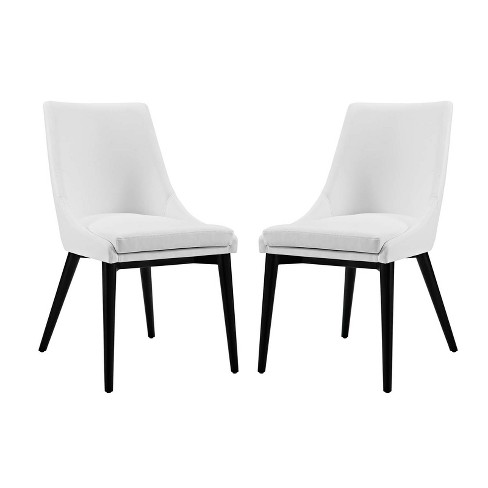 Set of 2 Viscount Dining Side Chair Vinyl - Modway - image 1 of 4