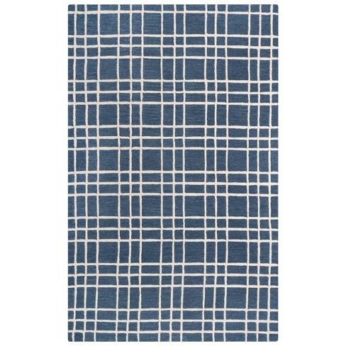 Lofton Plaid Wool Area Rug - Rizzy Home - image 1 of 4
