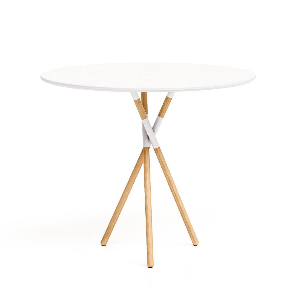 "Image of ""30"""" Blythe Round Dining Table White/Natural - Jamesdar"""
