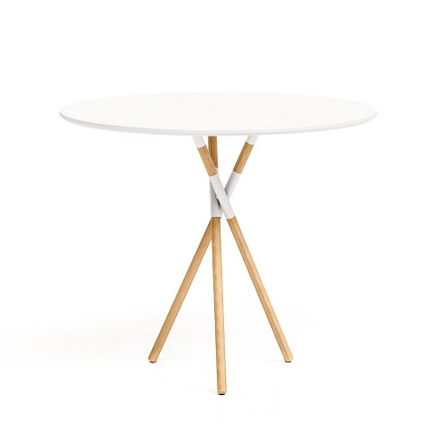 30 Blythe Round Dining Table White Natural Jamesdar Target