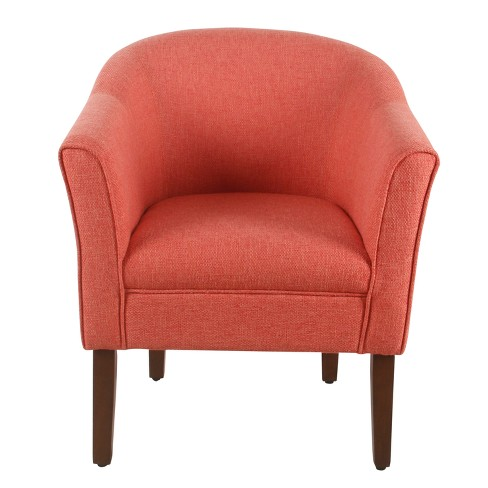 Stupendous Modern Barrel Accent Chair Textured Orange Homepop Bralicious Painted Fabric Chair Ideas Braliciousco
