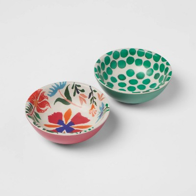 4.5oz 2pk Melamine and Bamboo Mini Bowls - Opalhouse™