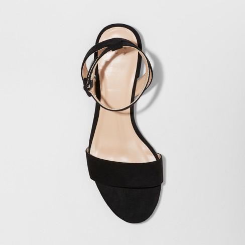 b9c0568c506f Women s Winona Wide Width Ankle Strap Sandal - A New Day™ Black 6.5W    Target