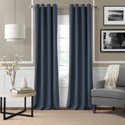 Essex Solid Light Filtering Window Curtain Panel - Elrene Home Fashions - image 1 of 4