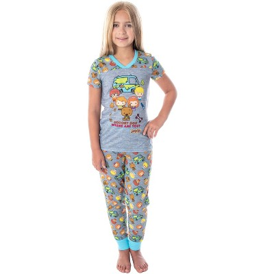 Scooby Doo Girls Pajamas Where Are You? Chibi Figures PJs