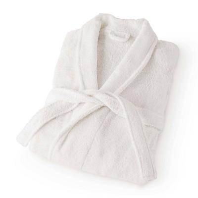 Large Terry Bath Robe White - Martex