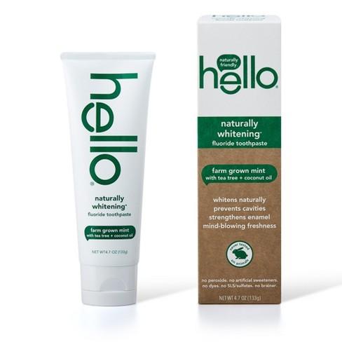 hello Naturally Whitening Fluoride Toothpaste , sls Free and Vegan , 4.7oz - image 1 of 7