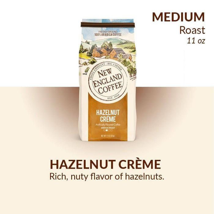 New England Hazelnut Crème Medium Roast Coffee Ground Coffee - 11oz - image 1 of 7