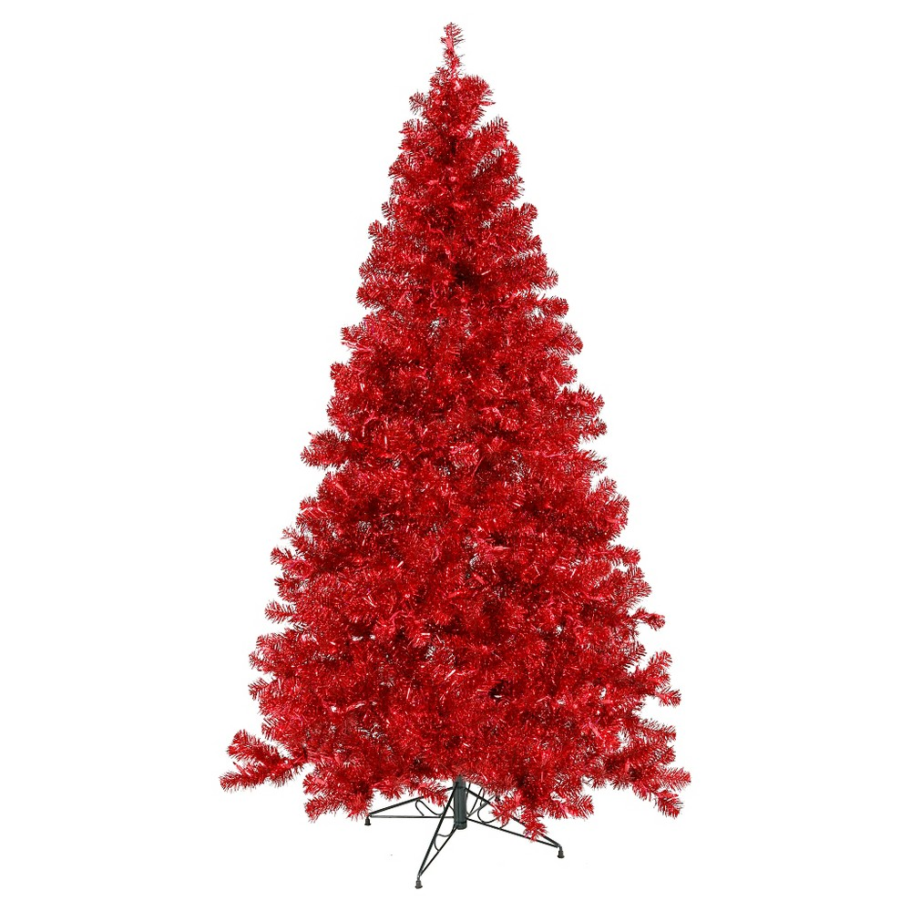 5ft Pre - Lit Artificial Christmas Tree Slim Red