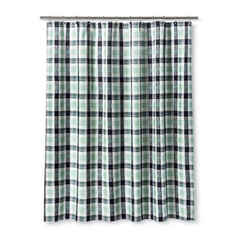 Printed Shower Curtain Green - Threshold™ - image 1 of 1