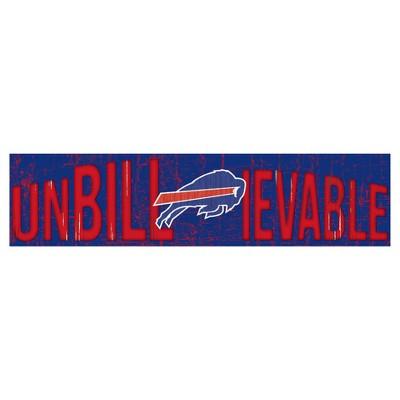 NFL Fan Creations 24 in. Slogan Wood Sign