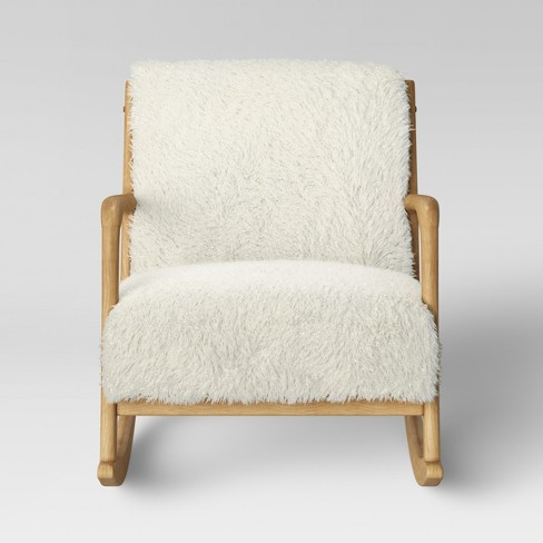 Marvelous Esters Wood Arm Chair Sherpa White Project 62 Evergreenethics Interior Chair Design Evergreenethicsorg