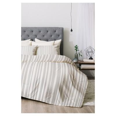 Gray Lisa Argyropoulos Stripe Comforter Set (Queen)3pc - Deny Designs®