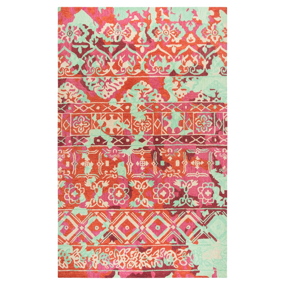Pink Abstract Tufted Area Rug - (5'x8') - Rizzy Home