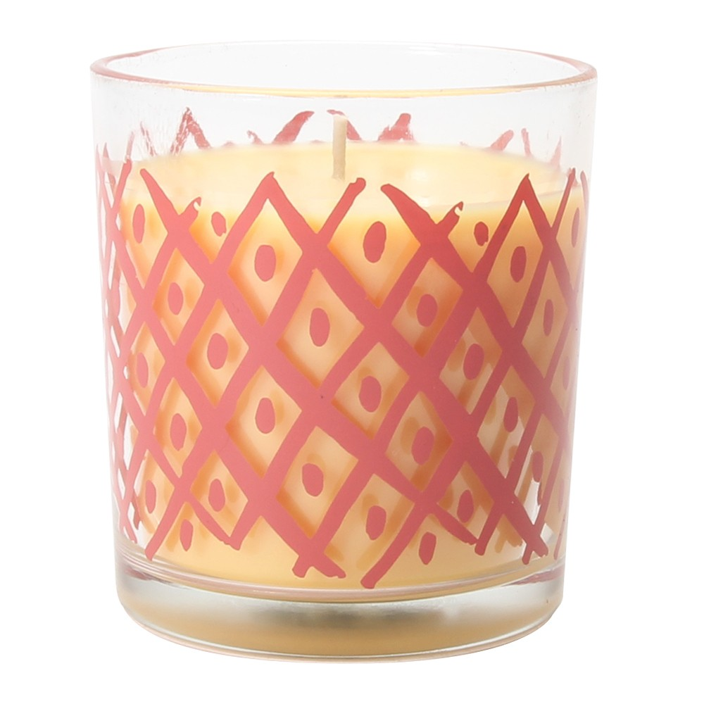 4.9oz Glass Container Candle Pineapple Paprika, Light Pink