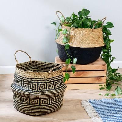 Honey-Can-Do 2pc Folding Belly Baskets
