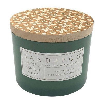 12oz Vanilla Oud Scented Candle - Sand + Fog
