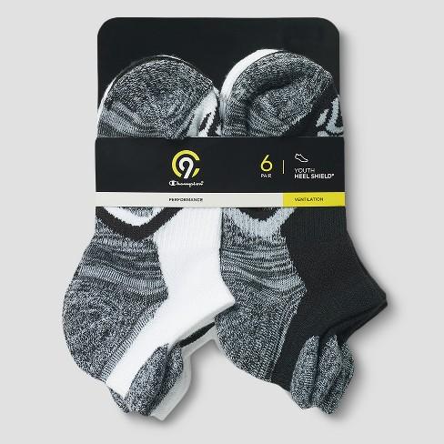 832e2848c13 Girls  6pk Heel Shield Socks - C9 Champion® Black L   Target