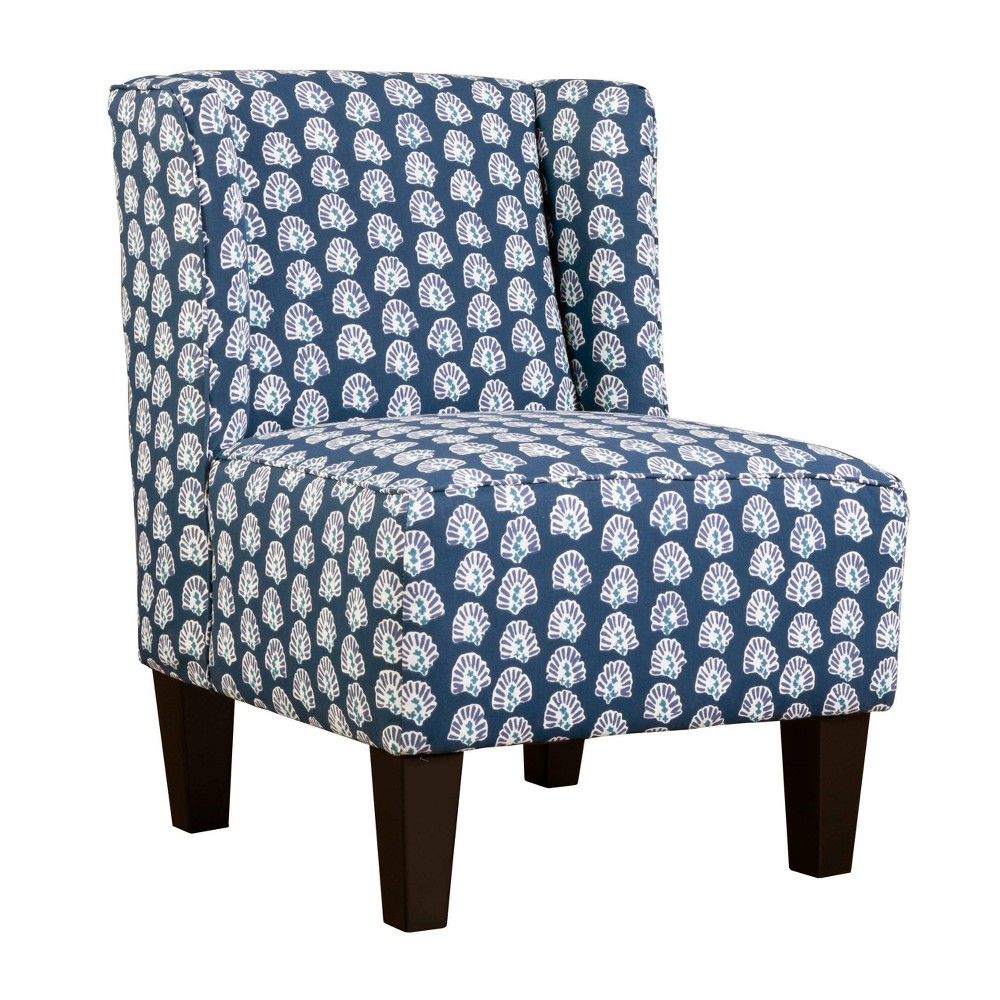 Image of Charlie Winged Slipper Chair Boho Print Blue - Chapter 3