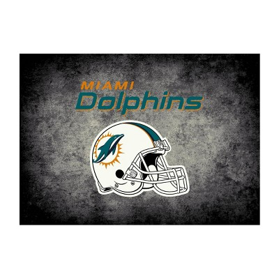 NFL Miami Dolphins 4'x6' Distressed Rug
