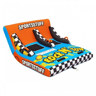 Sportsstuff Inflatable Rock N' Tow 2 Sitting Double Rider Towable Boat Lake Tube