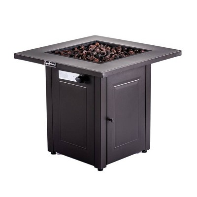"Square Fire Table Mocha 28"" - Legacy Heating"