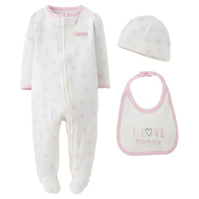 Precious Firsts™Made by Carter's® Baby Girls' 3 Piece Sleep N' Play Set 3 M