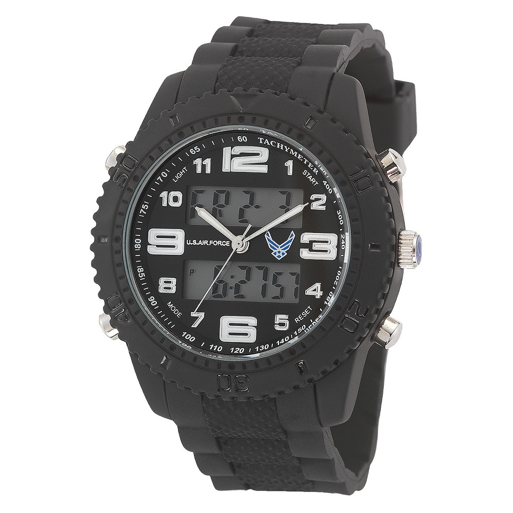 Men's' Wrist Armor U.S. Air Force C27 Analog-Digital Quartz Watch - Black, Size: Small