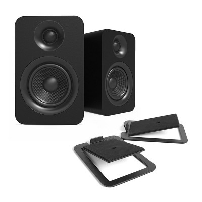 Kanto YUP4 Passive Bookshelf Speakers with S4 Speaker Stands - Pair