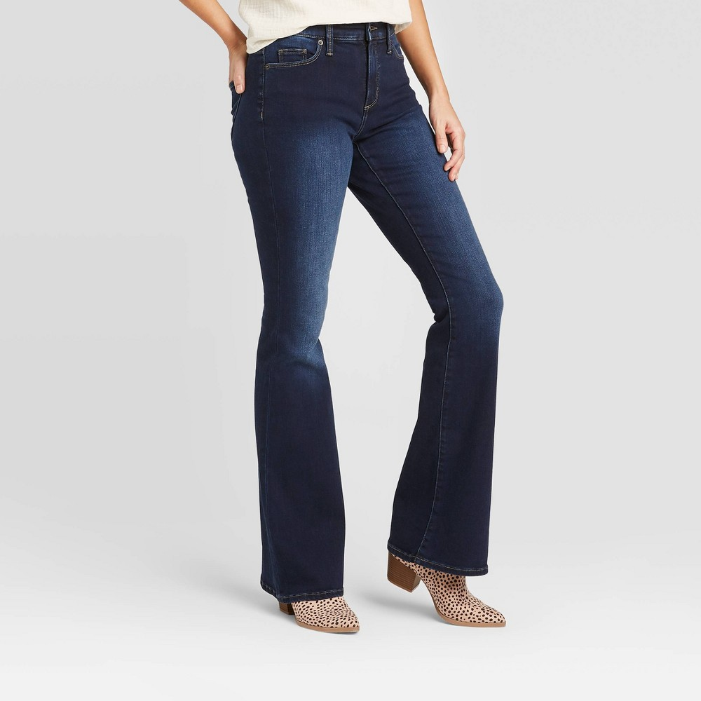 Vintage High Waisted Trousers, Sailor Pants, Jeans Women39s High-Rise Flare Jeans - Universal Thread8482 Dark Wash $29.99 AT vintagedancer.com