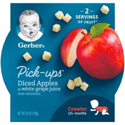 Gerber Fruit Pick-Ups, Diced Apples - 4.5oz