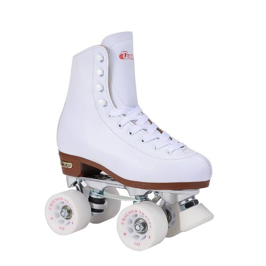 Women's Chicago Deluxe Leather Rink Skates - 10, White image number null