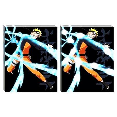 "Just Funky Naruto Shippuden Rasengan 20""x16"" Light-Up Canvas Wall Art"