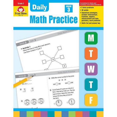 Daily Math Practice, Grade 3 - by Evan-Moor Educational Publishers  (Paperback)