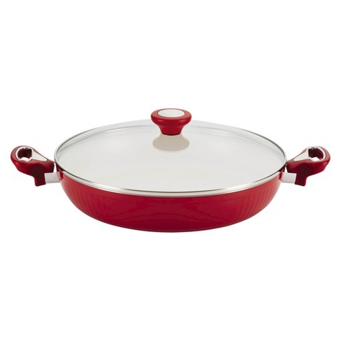 "Farberware New Traditions 12"" Aluminum Nonstick Covered Deep Skillet - image 1 of 3"